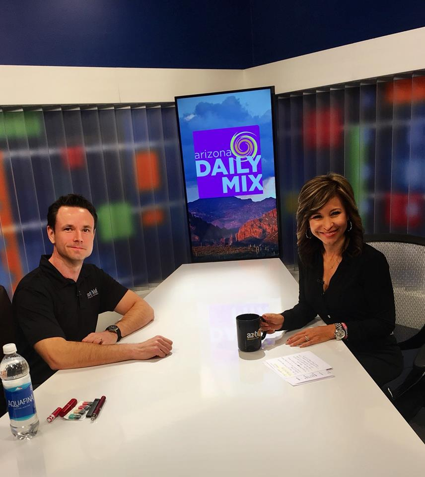 Being interviewed by Catherine Anaya on the AZ Daily Mix