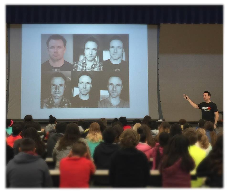 Sharing my sobriety progress photos with a group of local middle school students