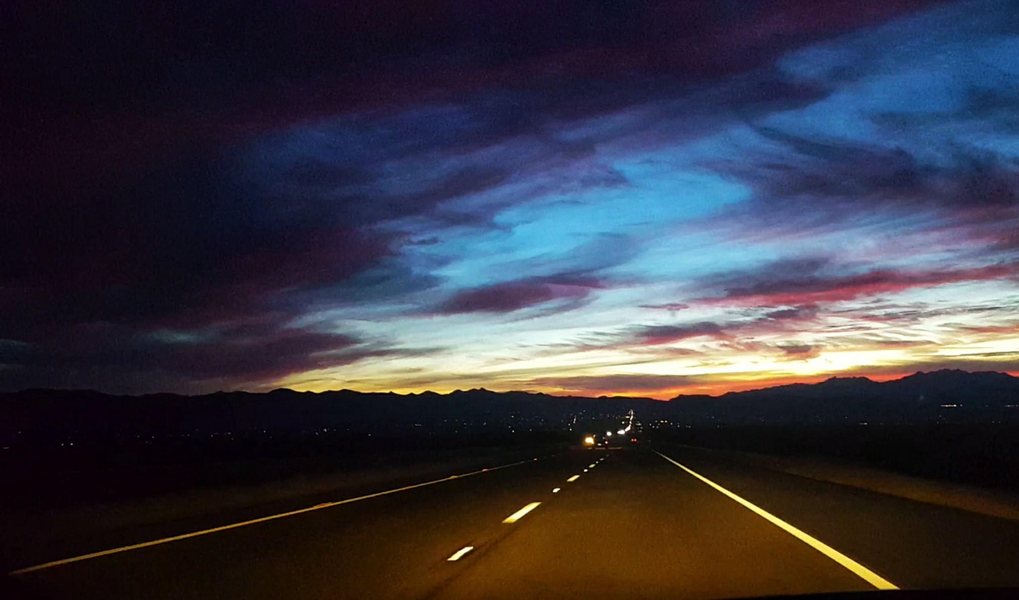 Sunrise on the 68 near Golden Valley